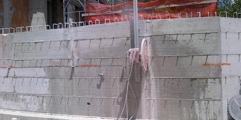 Preventivo Muro Cemento Armato.Taglio Cemento Armato E Carotaggi A Perugia Innocenzi Costruzioni